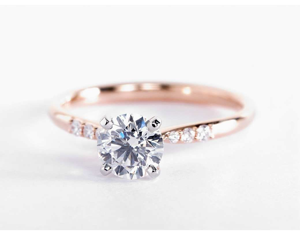 Encouragement Center Petite Diamond Engagement Ring Blue Nile Petite Diamond Engagement Ring Rose G Tw Blue Nile Rings Blue Nile Rings Six Prong wedding rings Blue Nile Rings