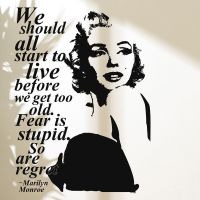 3d Poster Wall Stickers Marilyn Monroe Wall Decal Vinyl ...