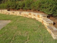 low rretainer wall | low retaining wall can also double as ...