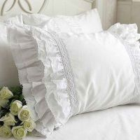 Lace Love Pillow Sham, White | Pillows, 30th and Shabby