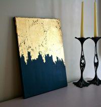 Midnight Gold   Gold Leaf Painting   Modern Art   Acrylic ...