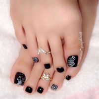 Elegant Fall / Autumn Toe Nail Art | Toe Nails Designs ...