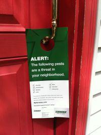 Look what I found at my front door: promotional door ...