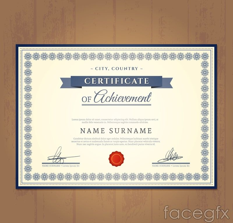 Beautiful certificate design vector Diplome Pinterest - certificate design format