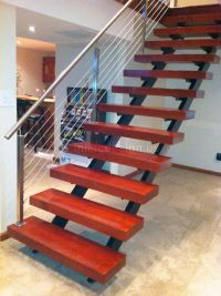 Pix For > Metal Stair Railing Cable | Stairs/Railings ...