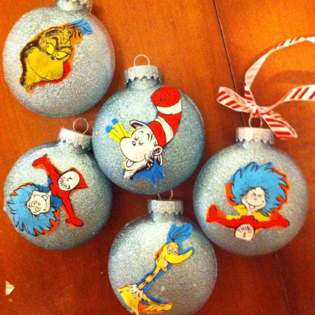 Dr Seuss Christmas ornaments Holiday Fun Pinterest - dr seuss christmas decorations