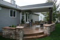 outdoor covered patio, covered stamped concrete patio with ...