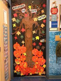 autumn door decorations | Fall door at school | Door ...