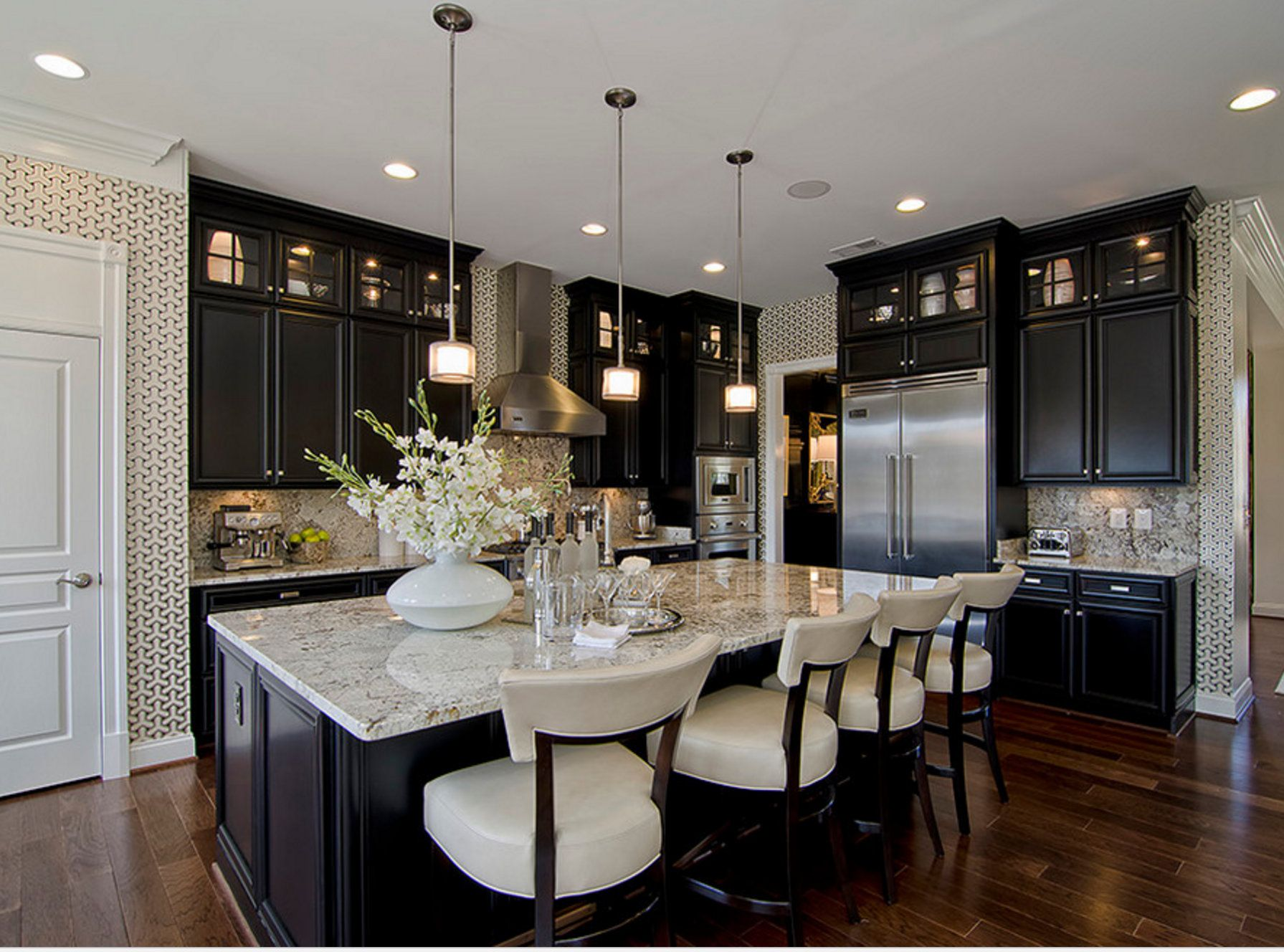 Black Ebony Stained Kitchen Cabinets Paint Pinterest