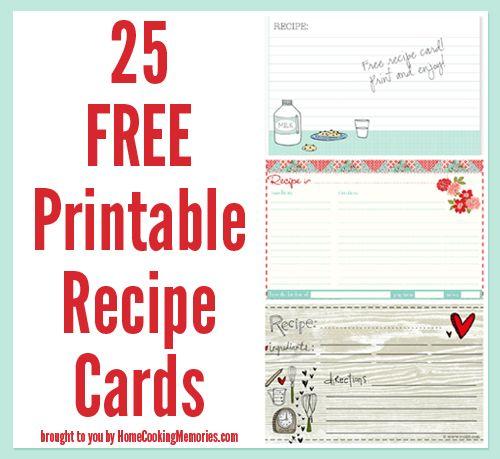 25 Free Printable Recipe Cards Printable recipe cards, Recipe - free recipe card templates for microsoft word