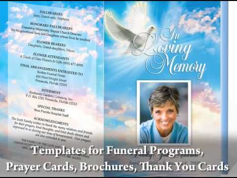 Great video on how to create your own funeral programs by using - funeral program template microsoft