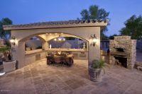 Elegant outdoor entertainment area | Pool, Patio, Porch ...
