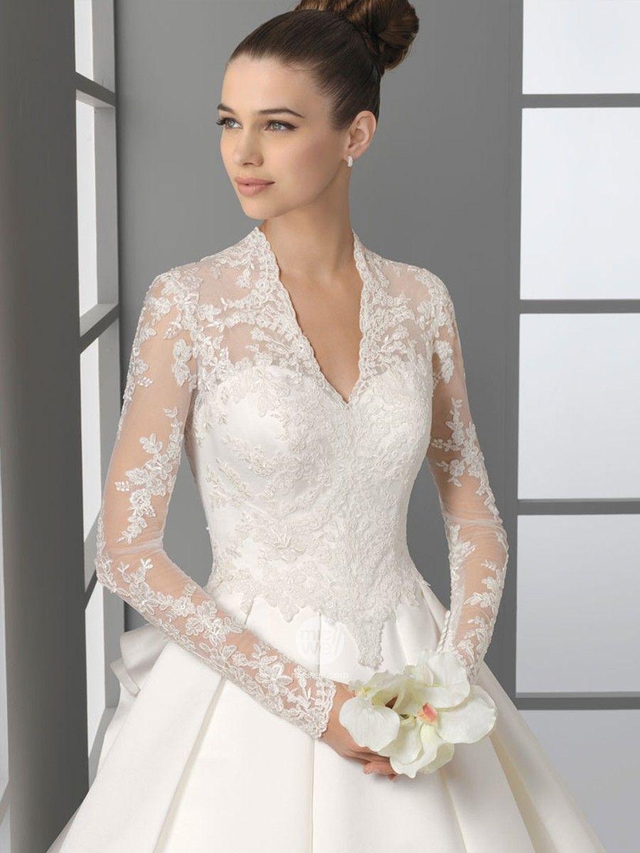 wedding dresses with sleeves Gorgeous Wedding Dresses Under