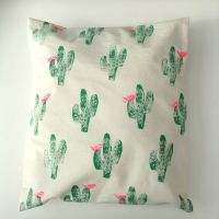 Hand Printed Cactus Pillow Cover