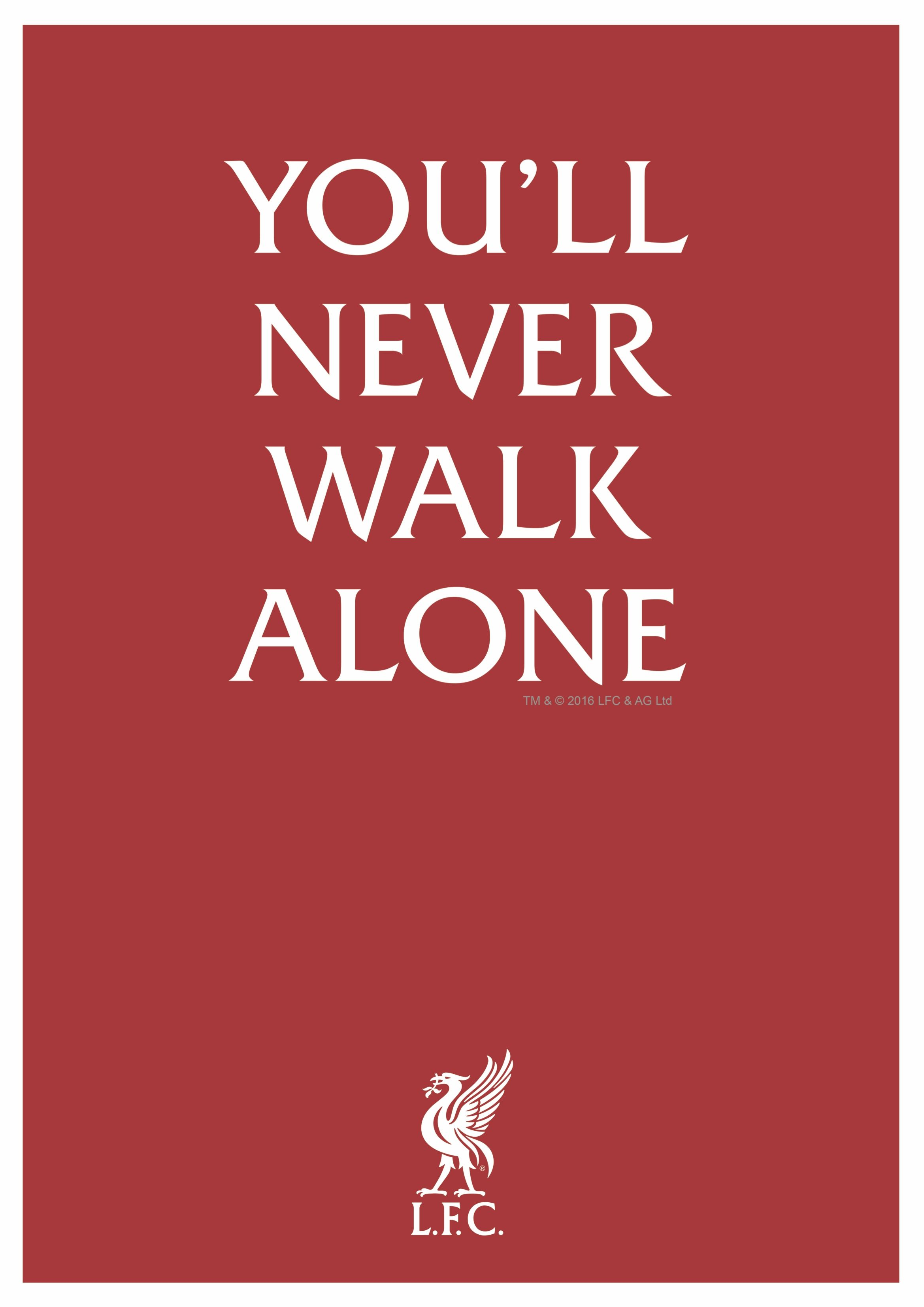 Steven Gerrard Quotes Wallpaper Lfc You Ll Never Walk Alone Rather Says It All