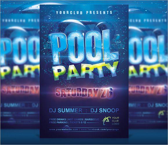 pool party invitation templates free printable Stuff to Buy - flyer invitation templates free