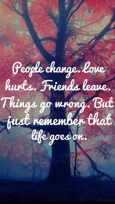 Tap on image for more inspiring quotes! Life Goes On - Inspirational & motivational Quote iPhone ...