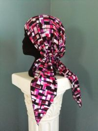 No-tie chemo scarf, free pattern and tutorial, Snip-Rip ...