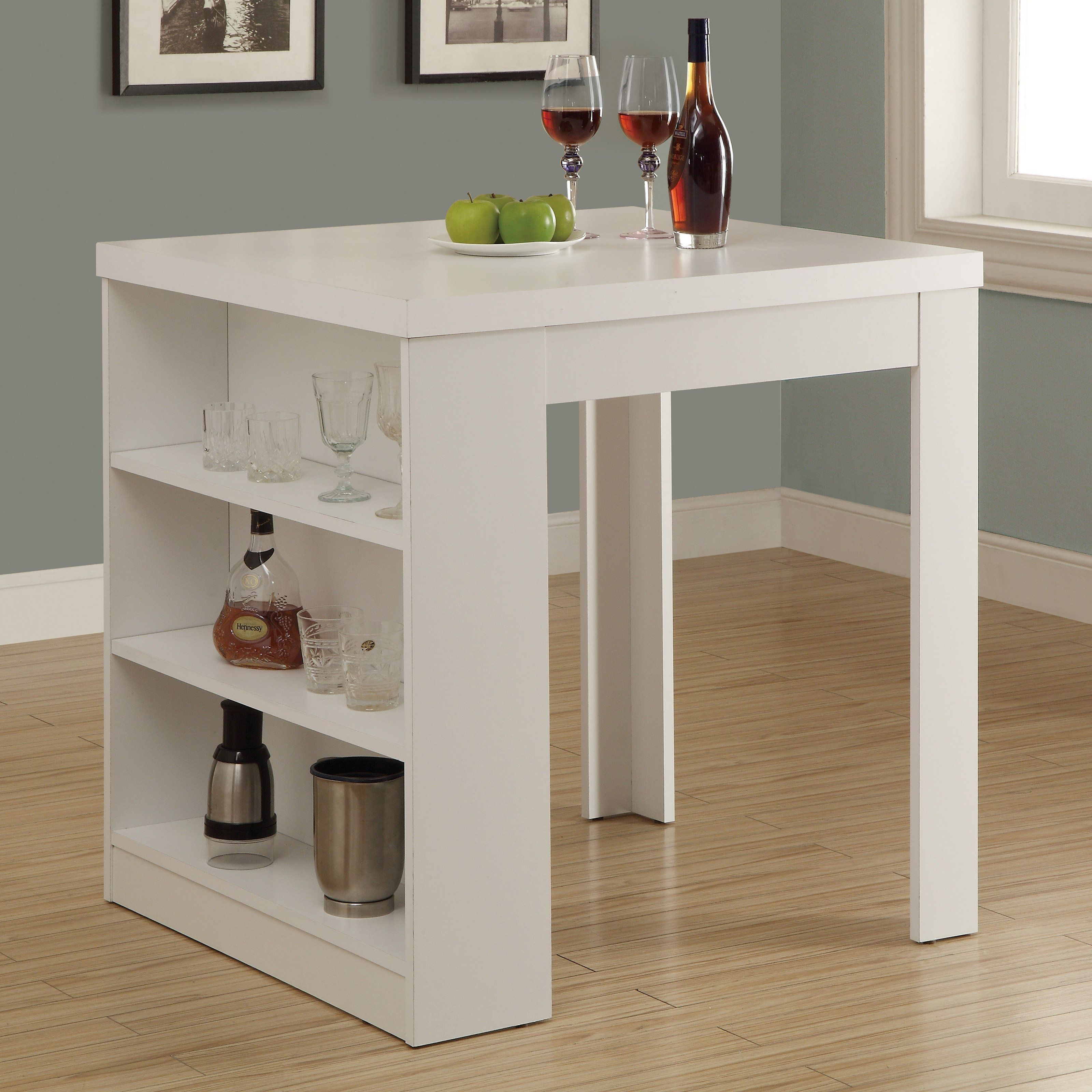 Square Dining Table With Storage Have To Have It Monarch White Square Counter Height Table