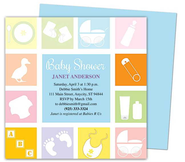 Baby Shower Invitations Template  Blocks Shower Invitation - baby shower invitations for word templates