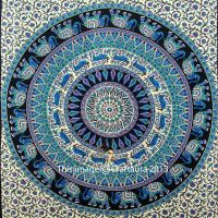 Mandala Tapestry Purple Indian Wall Hanging Hippie Wall ...