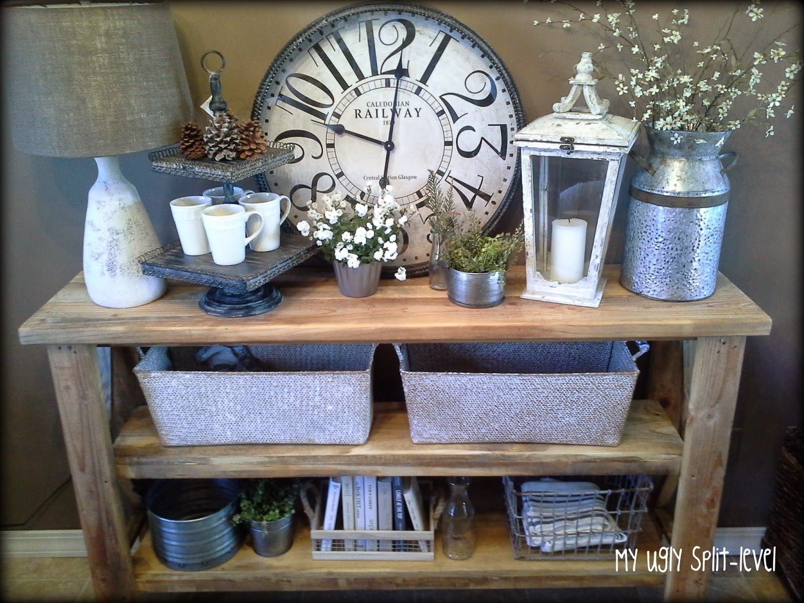 Industrial Chic Decorating Ideas My Ugly Split Level Dining Room Stylized Side Table