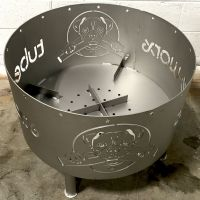 Custom Logo Fire Pit from hot rolled carbon steel sheet ...