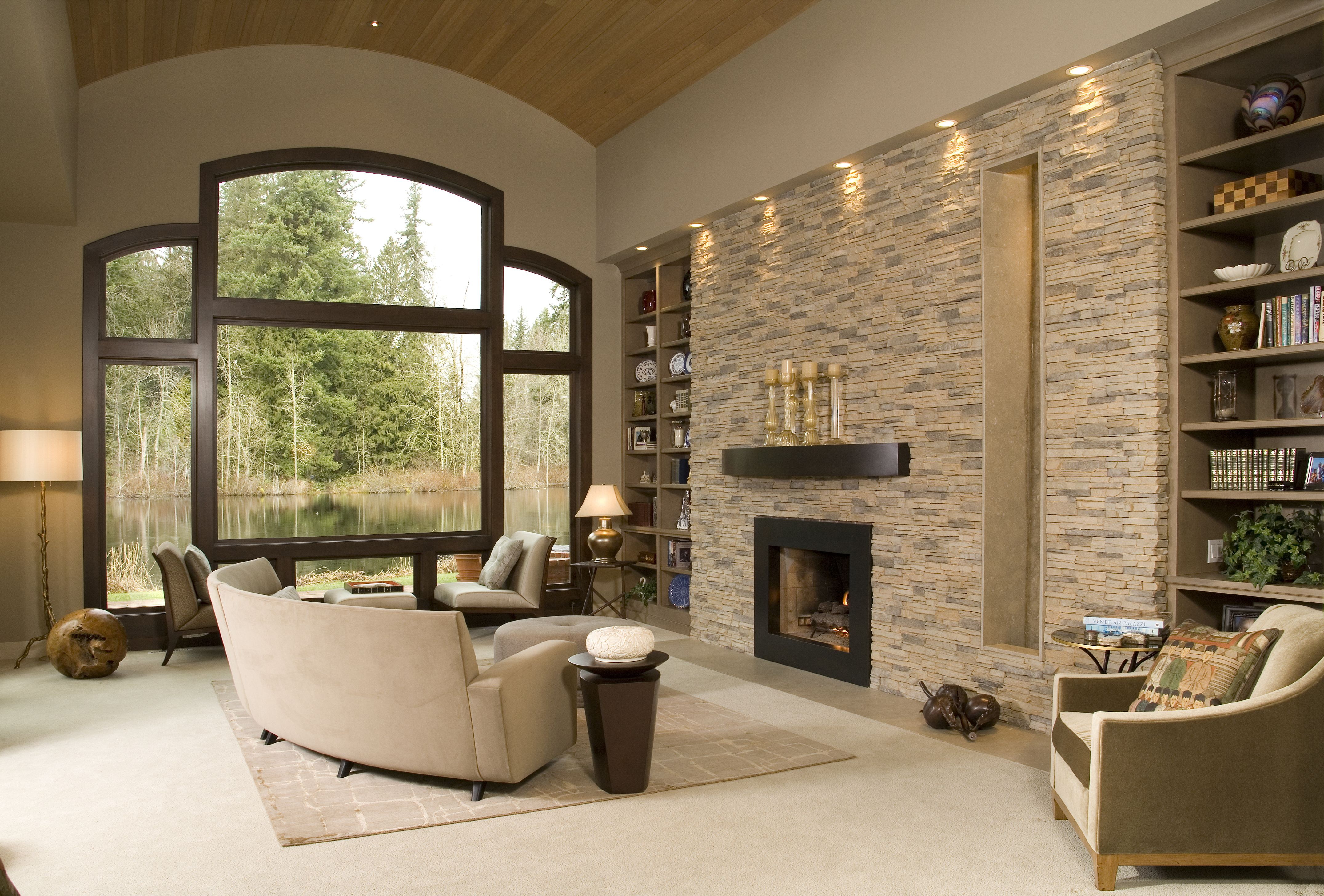 Accent Stone Wall Eldorado Stone Accent Wall Alderwood Stacked Stone