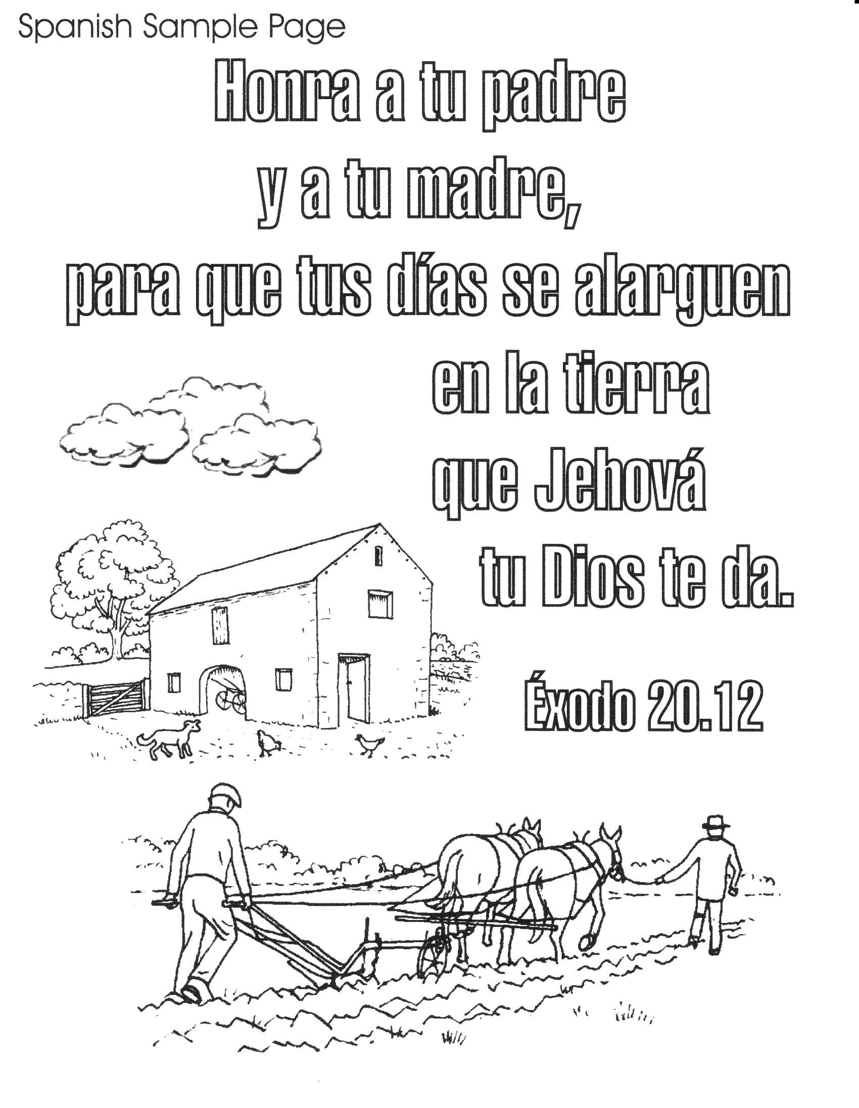 Bible spanish coloring pages free printable spanish bible verse coloring book