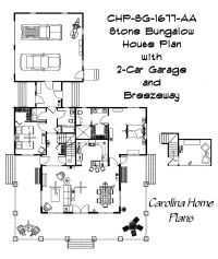 Open floor plan with cathedral ceiling great room. SG-1677 ...