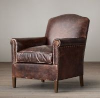 Family room leather chair options. 1920s French Camelback ...