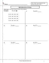 multiplication array worksheets   temporary Board ...
