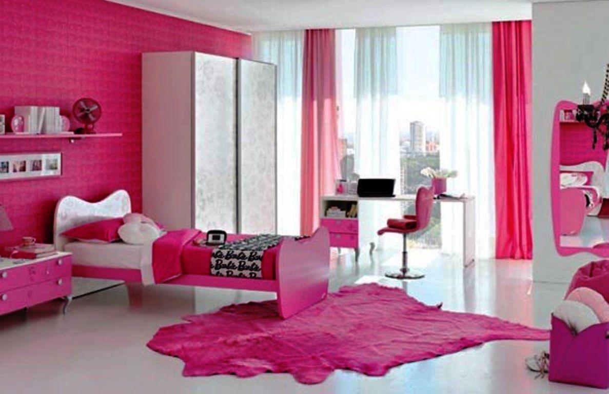 Special barbie bedrooms design for pink color lover