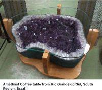 Amethyst geode coffee table! | What a Gem | Pinterest ...
