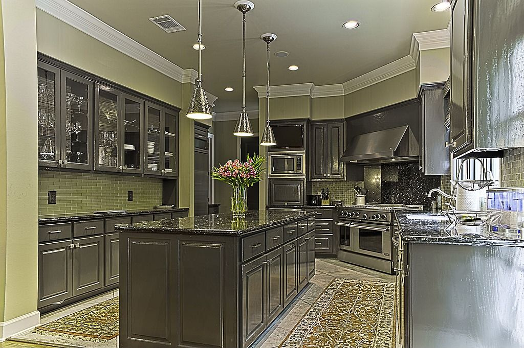 Dark Gray Kitchen Cabinets With Light Gray Walls Dark Gray Cabinets And Light Green Walls, Backsplash