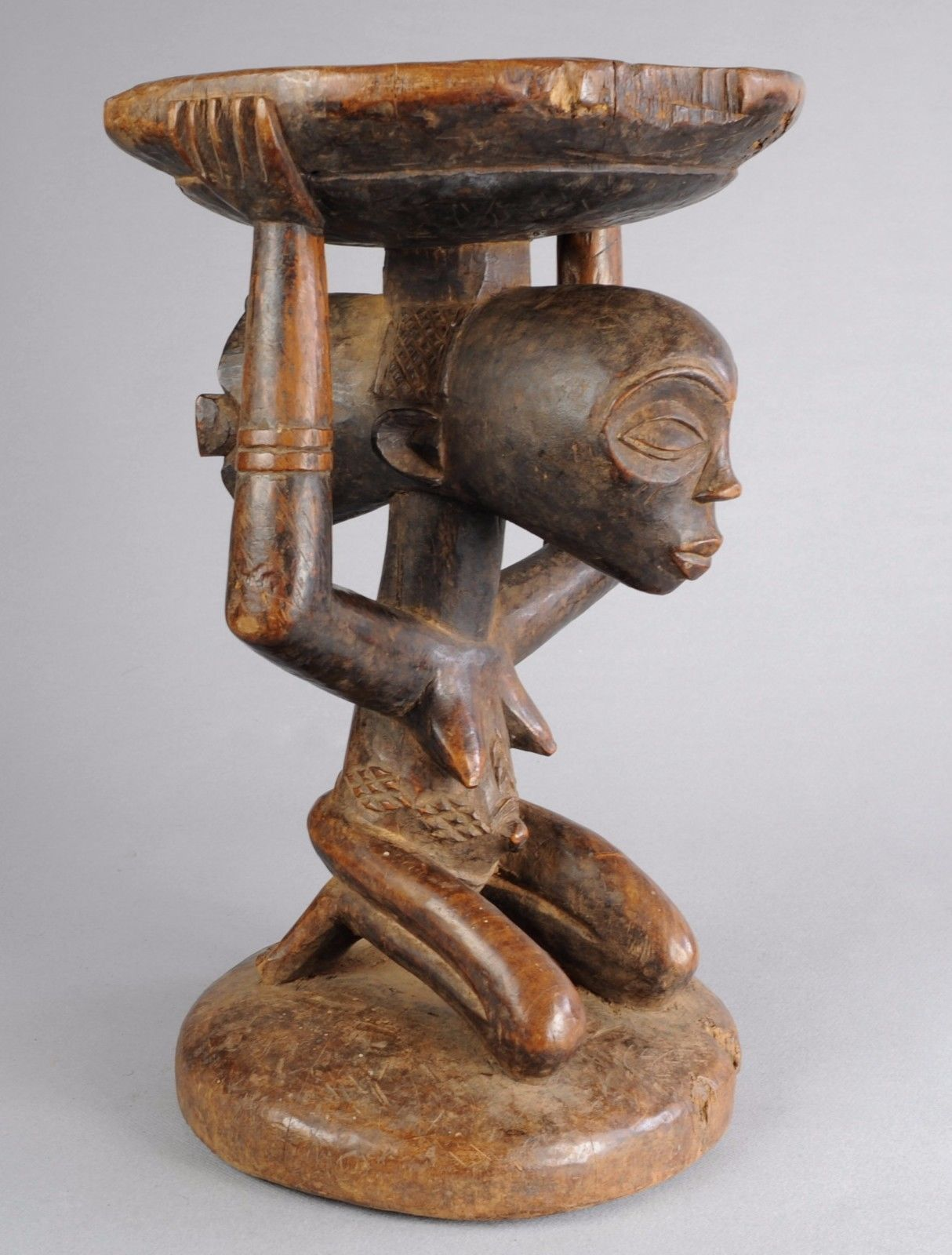 Tabourets Africains Ebay Exquisite Luba Caryatid Stool Tribal Art African Congo Drc