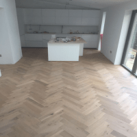 Engineered Flooring, Herringbone Oak, 18mm x 90mm ...