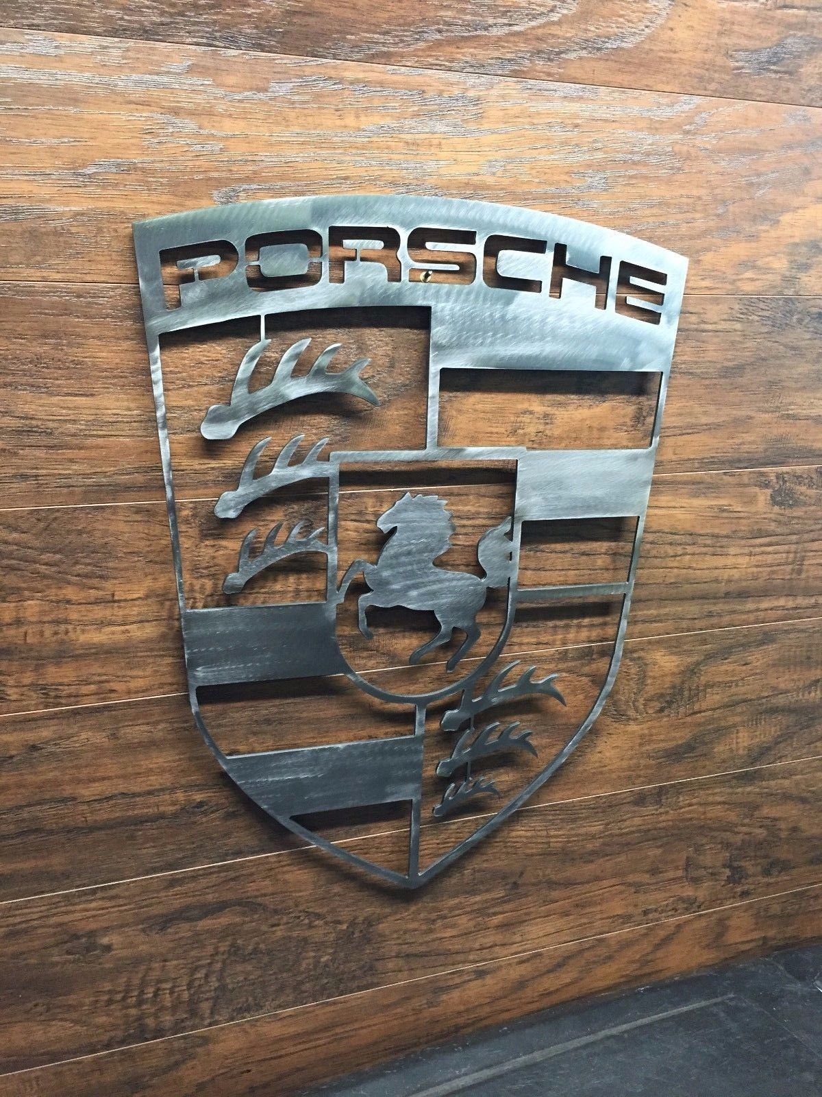 Porsche Logo Sign Metal Wall Art Decor Man Cave