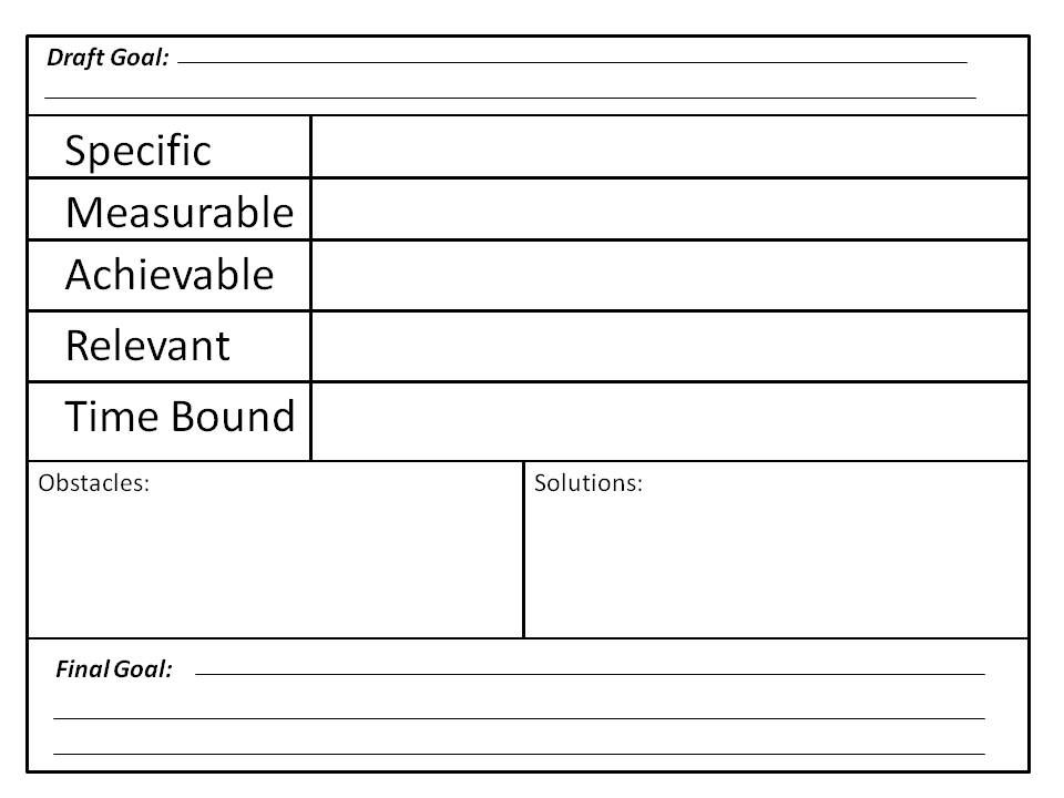 goal setting worksheet Smart Goal Worksheet Projects to Try - smart goals template