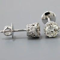 Edwardian Crown Diamond Earrings | Shiny | Pinterest ...