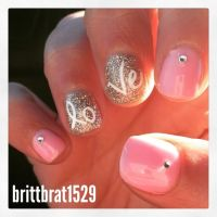 2015 Valentine's Day manicure gel nails design | Nail Art ...