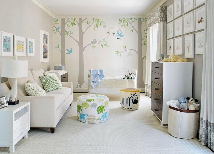 Babyzimmer gestalten - neutrale Farben passen für Mädchen und - babyzimmer madchen und junge