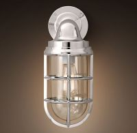 Starboard Sconce Polished Nickel | Sconces | Restoration ...