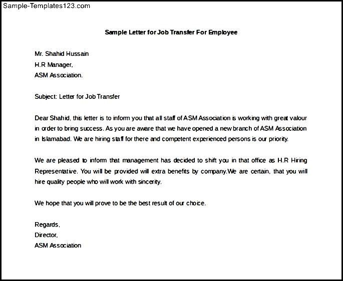 write letter intent for job transfer cover templates acceptance - letter of intent for employment template
