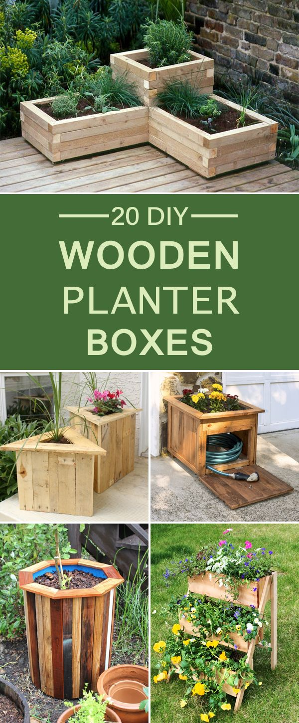 20 Diy Wooden Planter Boxes For Your Yard Or Patio More