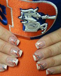 Denver Broncos Nail Designs - Nail Ftempo