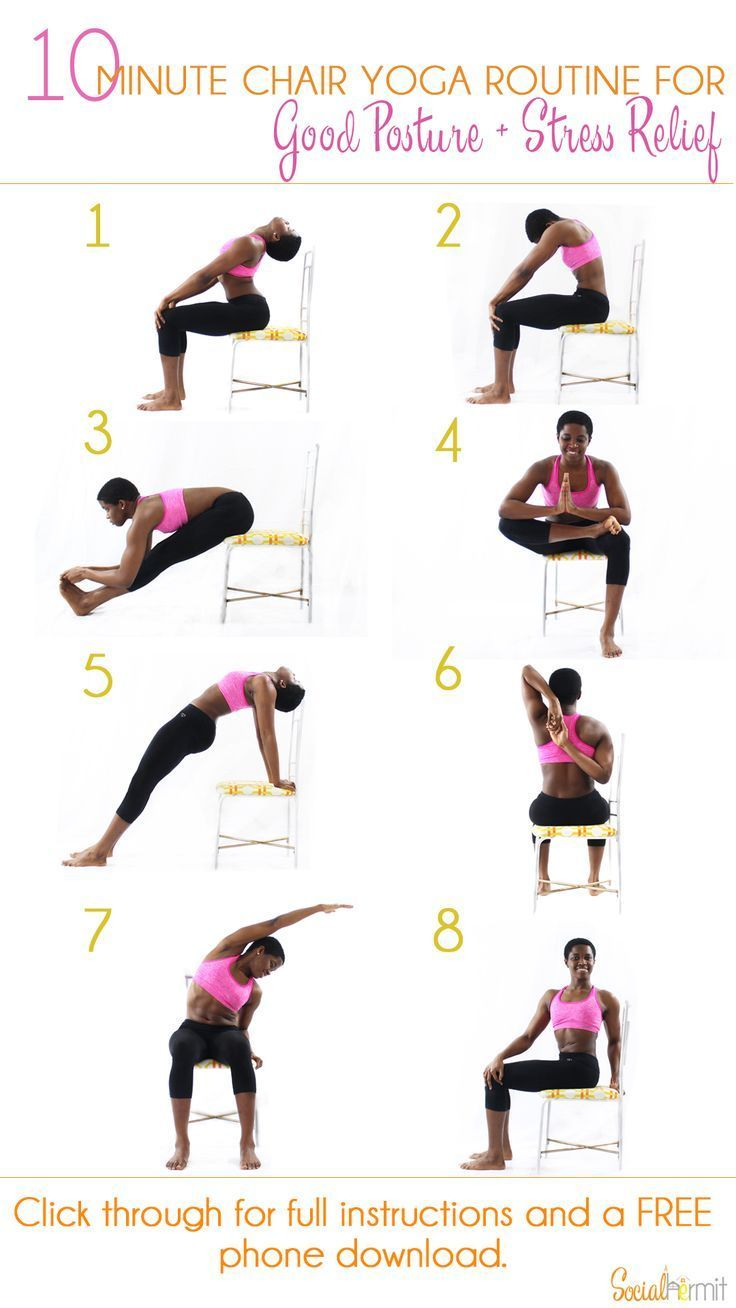 10 minute chair yoga routine for good posture and stress relief once you re