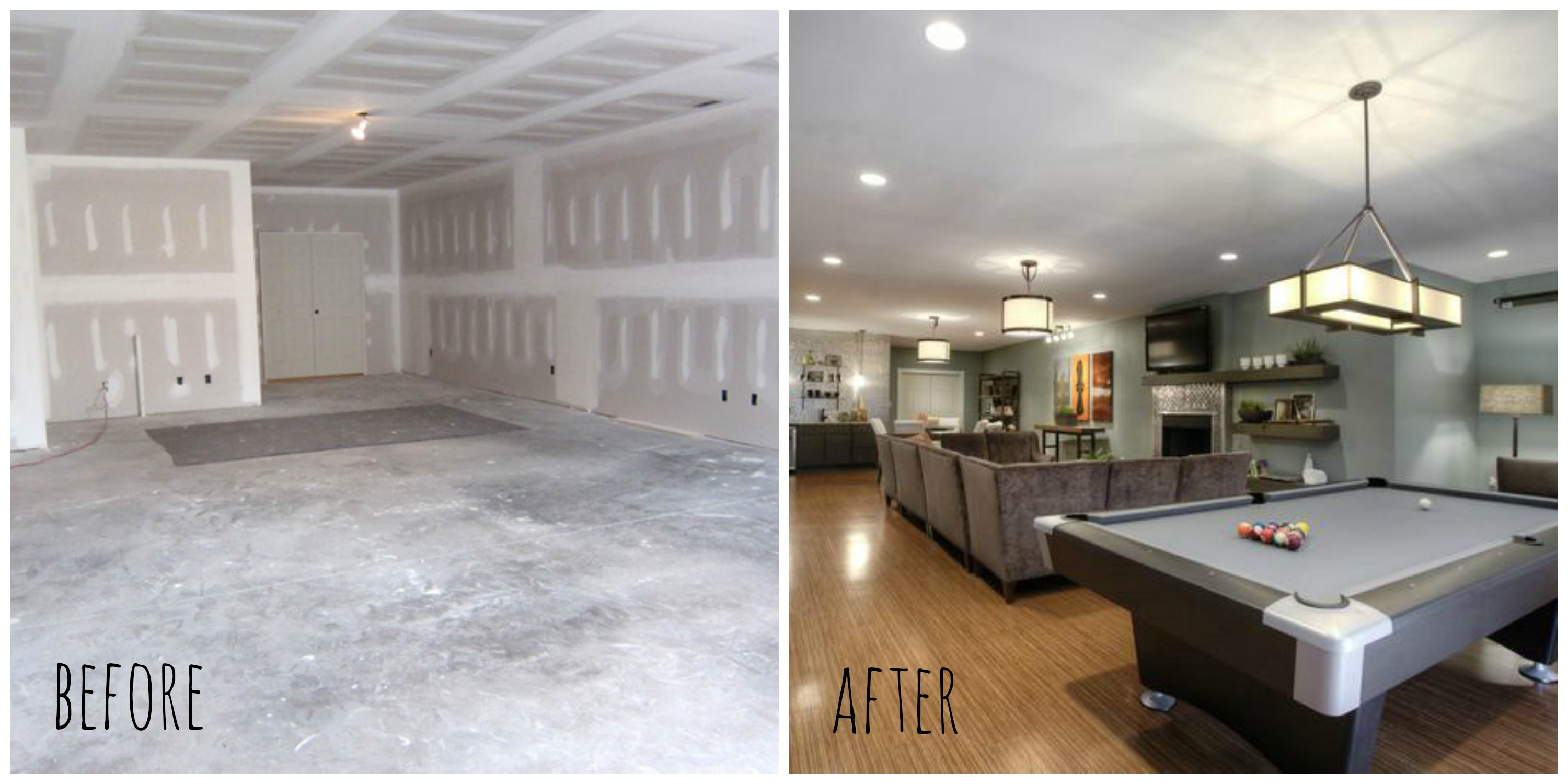 Finish My Basement Ideas Basement Renovation Before After Before After