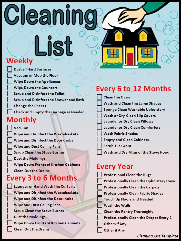 House Cleaning Checklist Cleaning List template Download Page - christmas checklist template