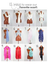 Scarf tying possibilities and fun scarves! Peace Love ...